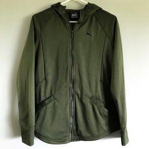 Puma Olive Green Fleece Jacket